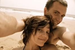 Na plaży w Agrot