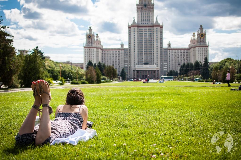Jedna z siedmiu sióstr Stalina w Moskwie, Rosja