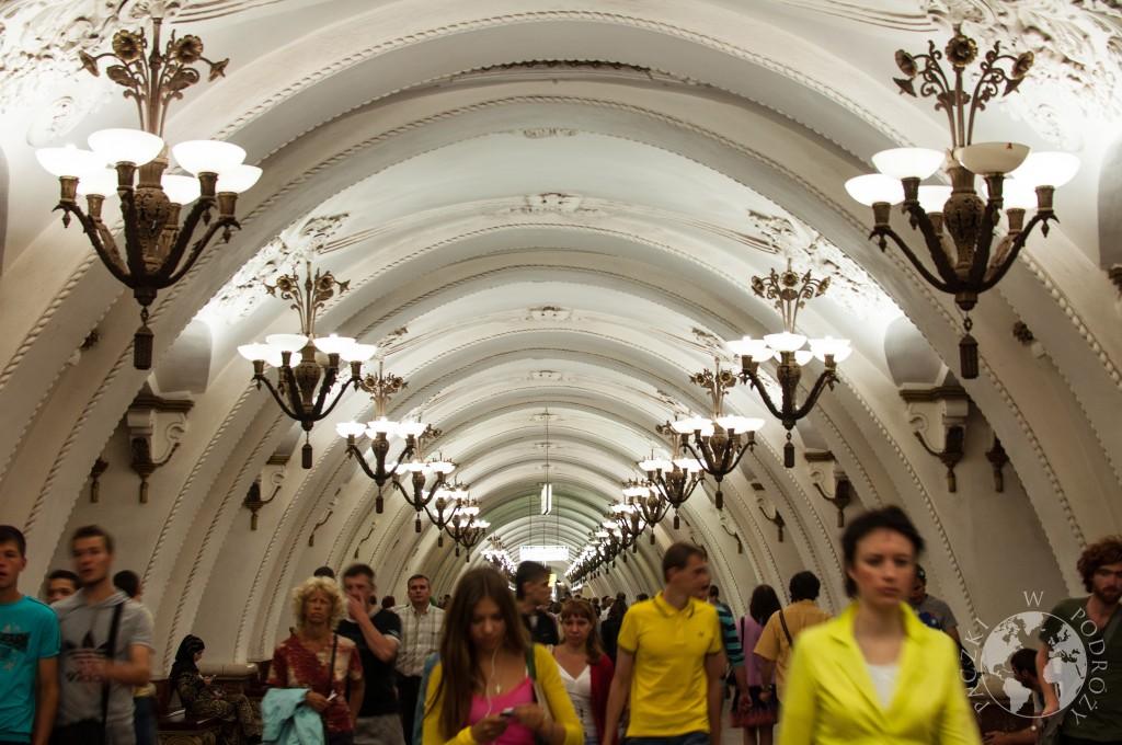 Stacja najgłębszego metra na świecie w Moskwie, Rosja