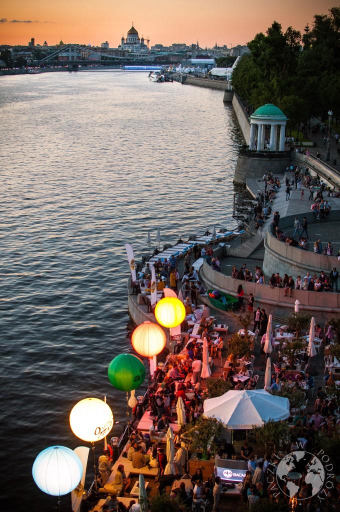 Rzeka Moskwa przepływająca przez stolicę Rosji