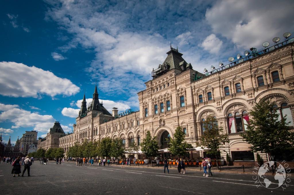 Widok na centrum handlowe na Placu Czerwonym w Moskwie, Rosja