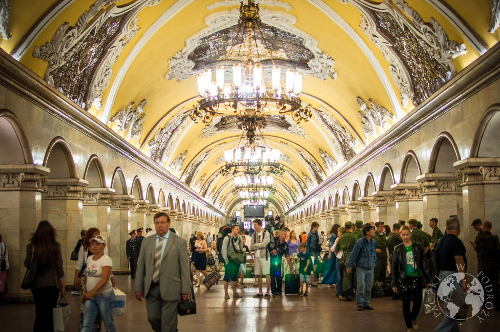 Stacja najgłębszego metra na świecie, Moskwa, Rosja