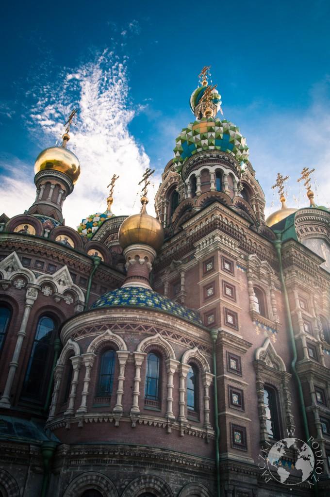 Widok z zewnątrz cerkwi Zbawiciela na Krwi, Sankt Petersburg, Rosja