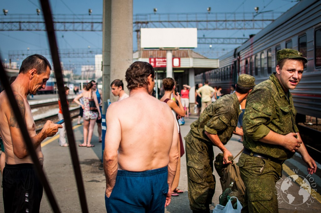 Postój w podróży pociągiem kolei transsyberyjskiej, Rosja