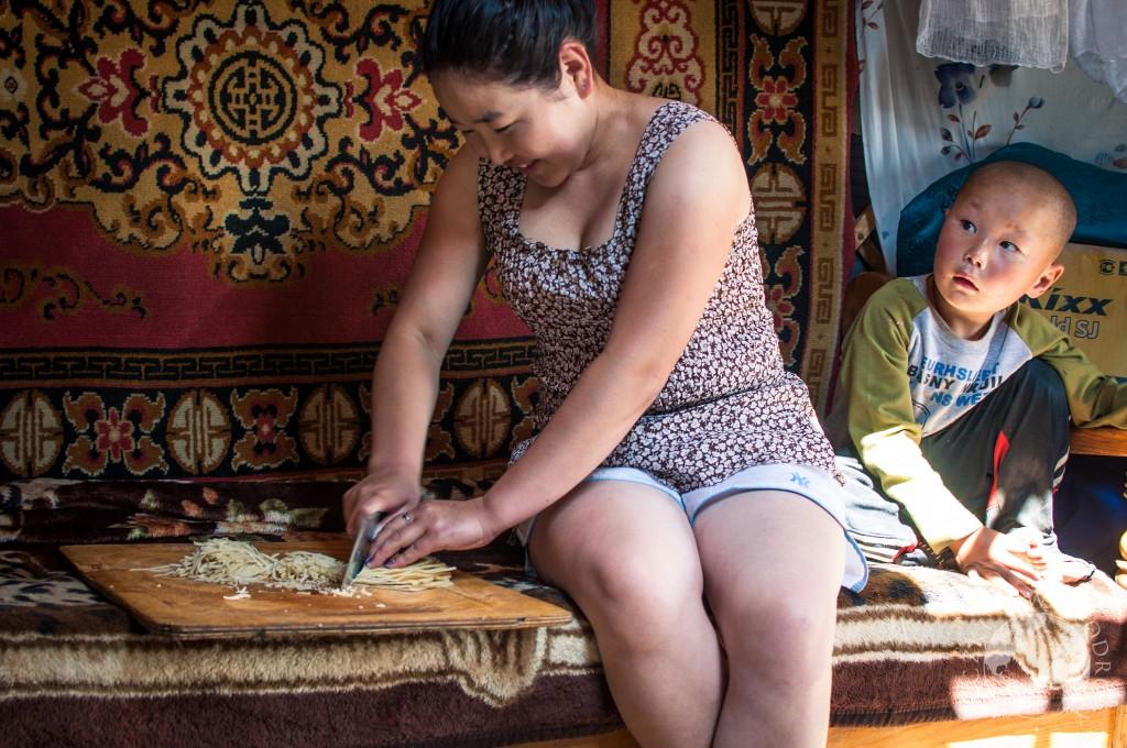 Jurta na stepie, Mongolia