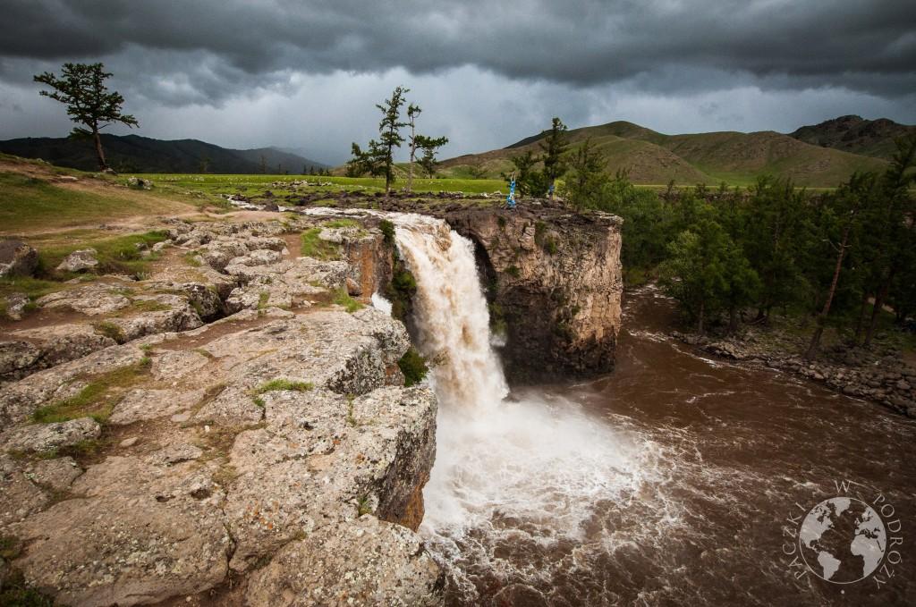 Wodospad Orchon, dolina Orchon, Mongolia