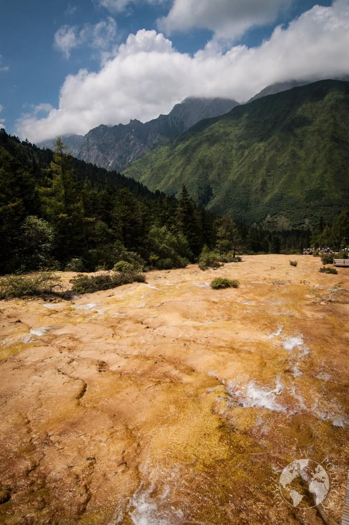 Tarasy wapienne, Park Narodowy Huanglong, Chiny