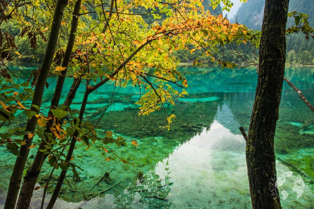 Park Narodowy Jiuzhaigou, jesień, Chiny