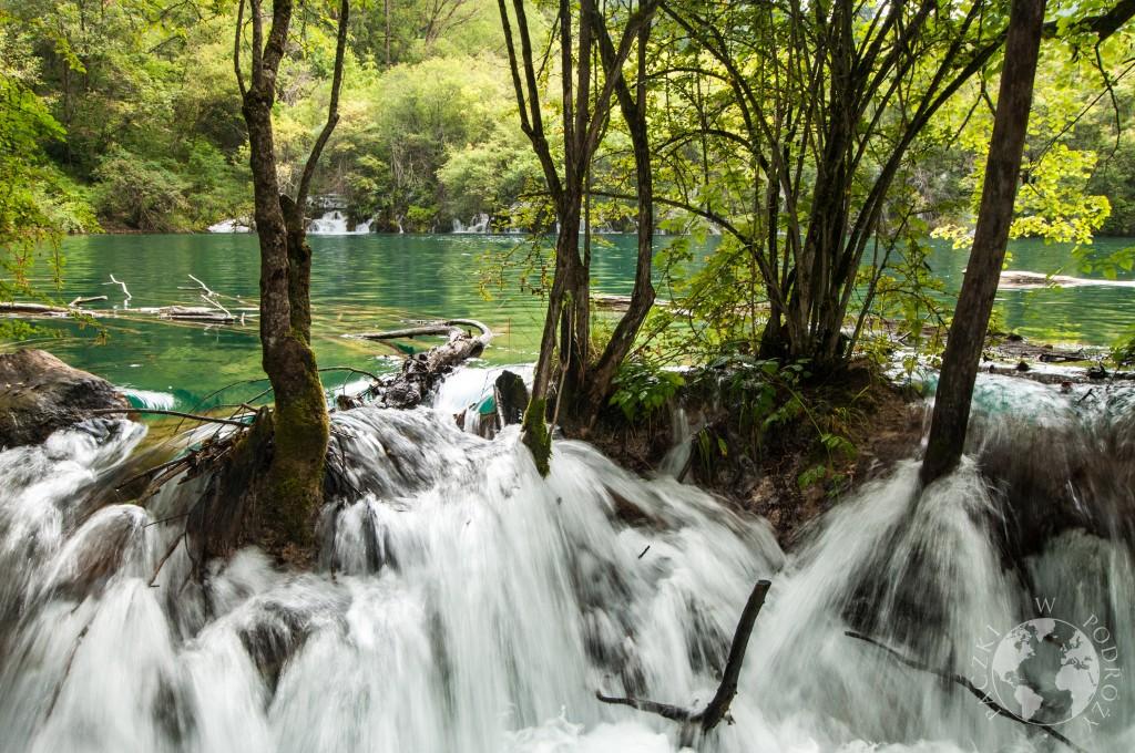 Park Narodowy Jiuzhaigou, wodospad, Chiny