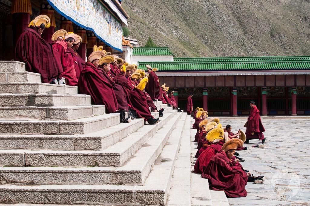 Buddyjski klasztor w Xiahe, Chiny