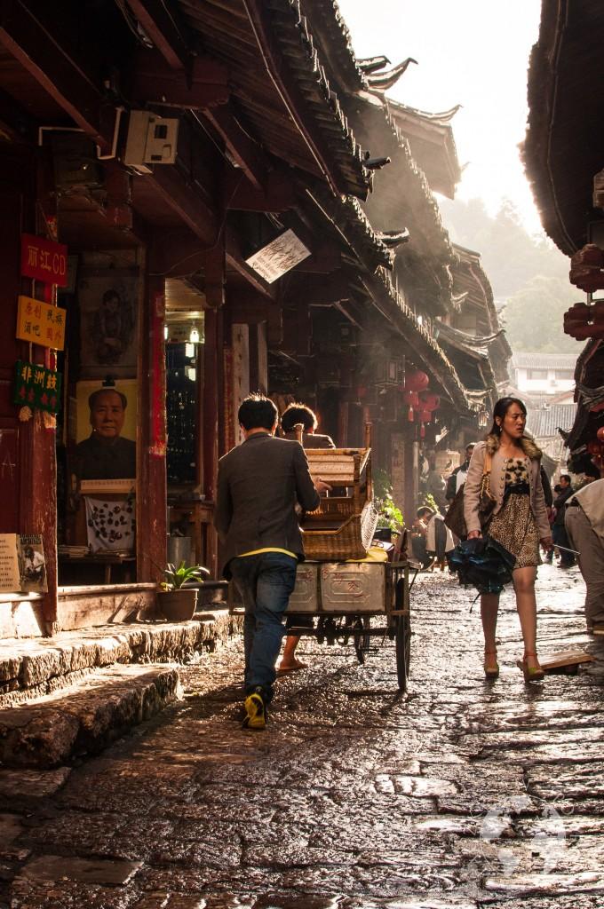 Uliczki starego miasta w Lijiangu, Chiny