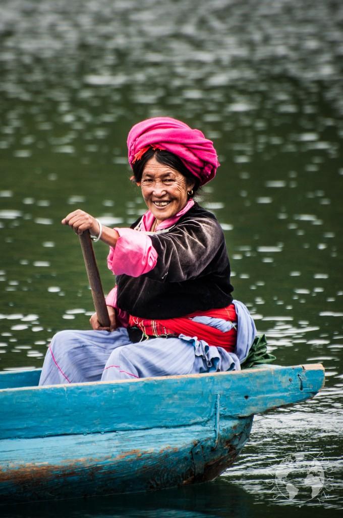 Plemię Mosuo znad jeziora Lugu Hu, Yunan, Chiny