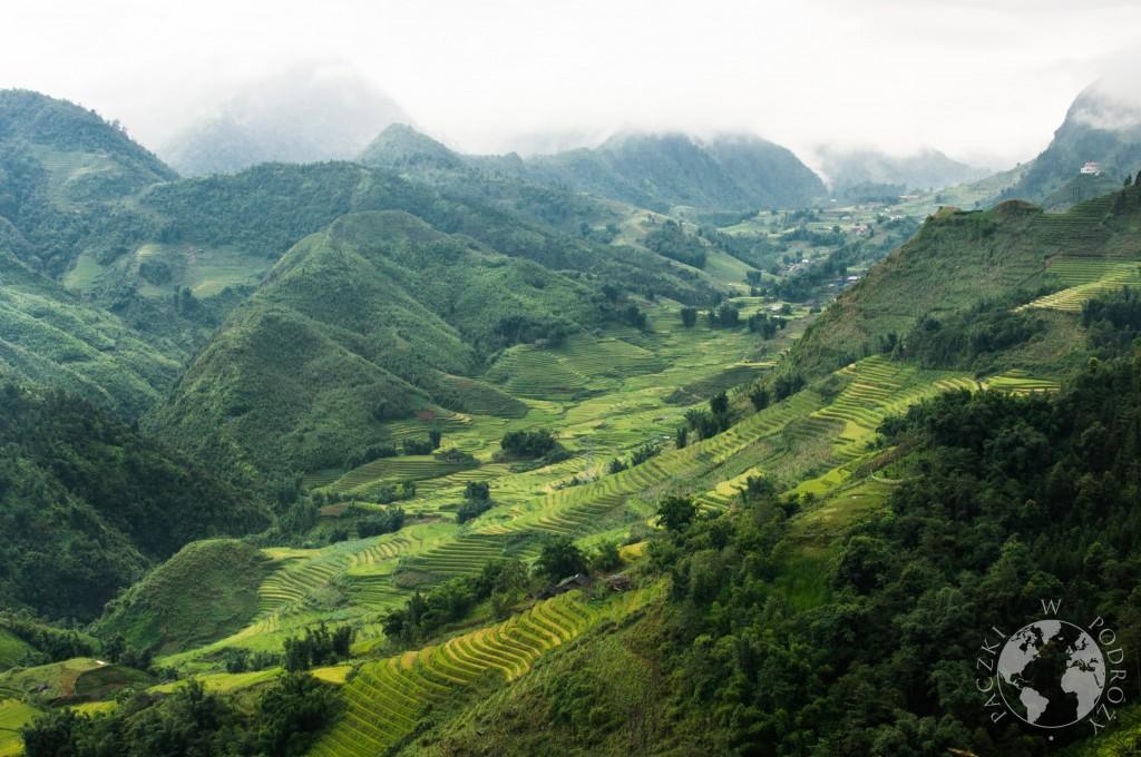 Zielone wzgórza na północy Wietnamu