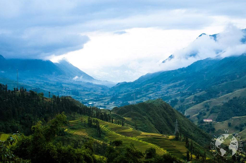 Wioski i tarasy ryżowe na północy Wietanmu
